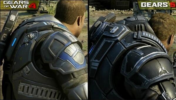 《战争机器5》对比《战争机器4》画质肉眼可见进步巨大